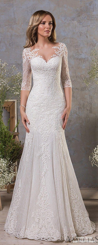 Lace button up wedding dress november 2018 Amelia Sposa  Brautkleid Hochzeiten Hochzeitskleider