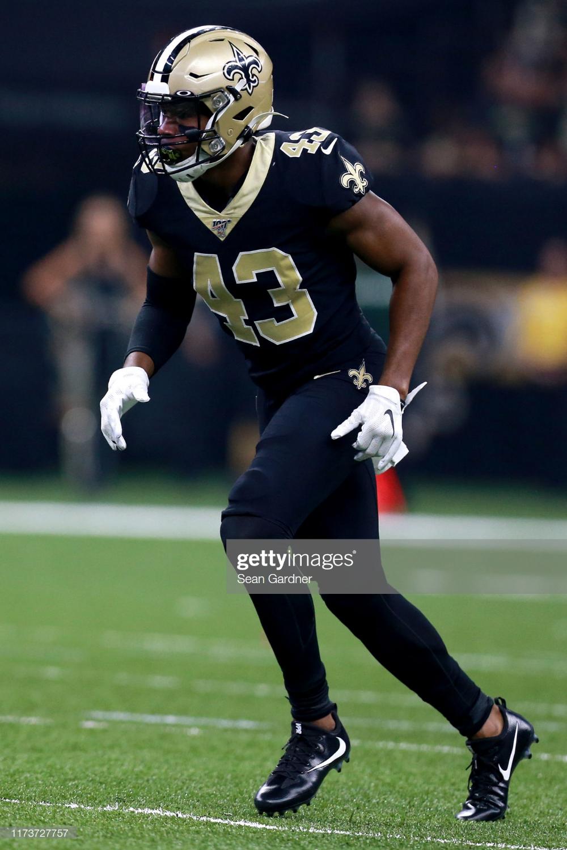 Marcus Williams Of The New Orleans Saints Stands On The Field During New Orleans Saints New Orleans Football Helmets