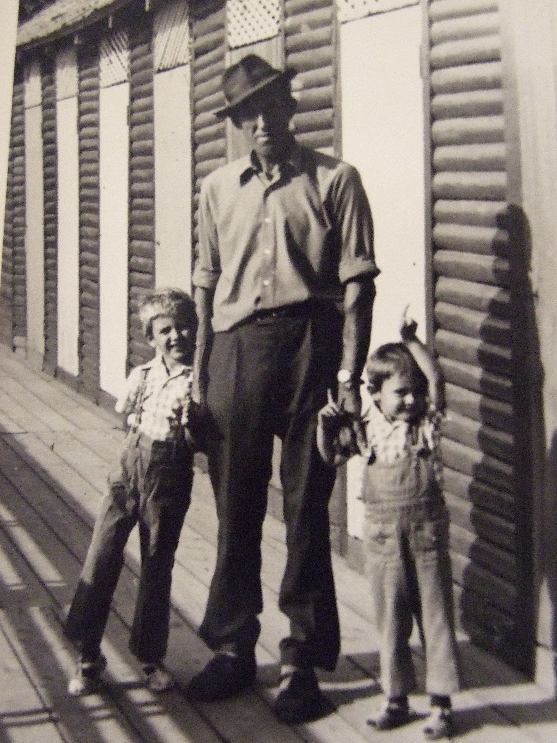 My great-grandfather with his grandchildren