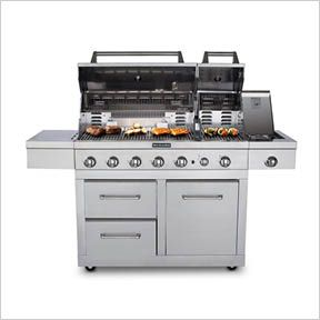 Kitchenaid 6 Burner Dual Chamber Propane Gas Grill In Stainless