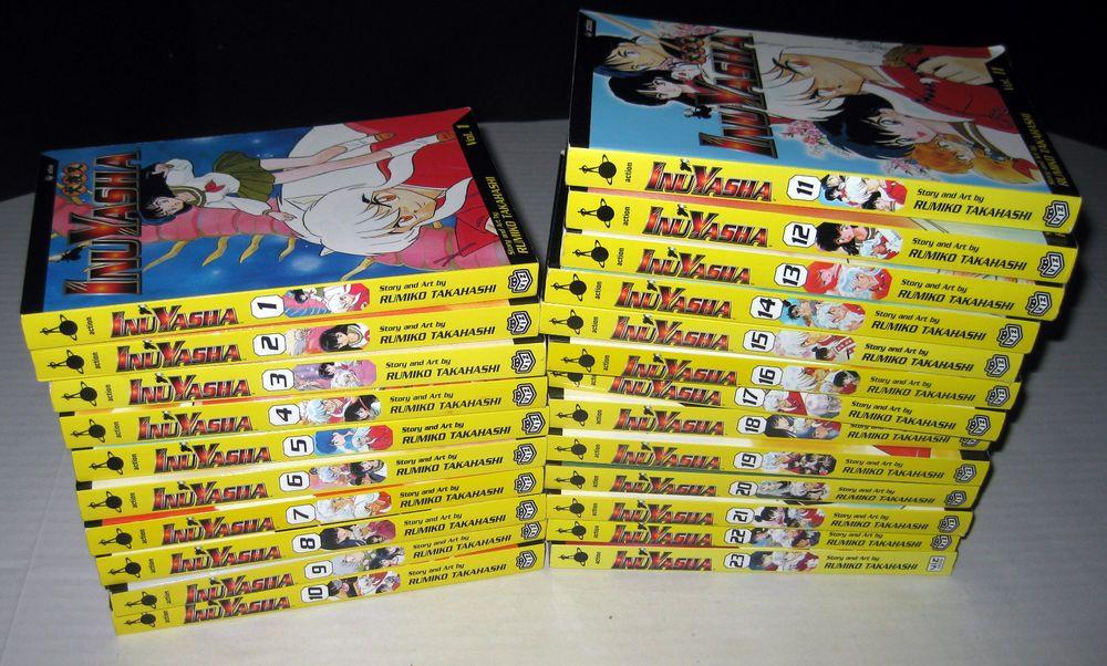 Lot Inuyasha Manga Volumes 1 23 English Viz Media Rumiko Takahashi