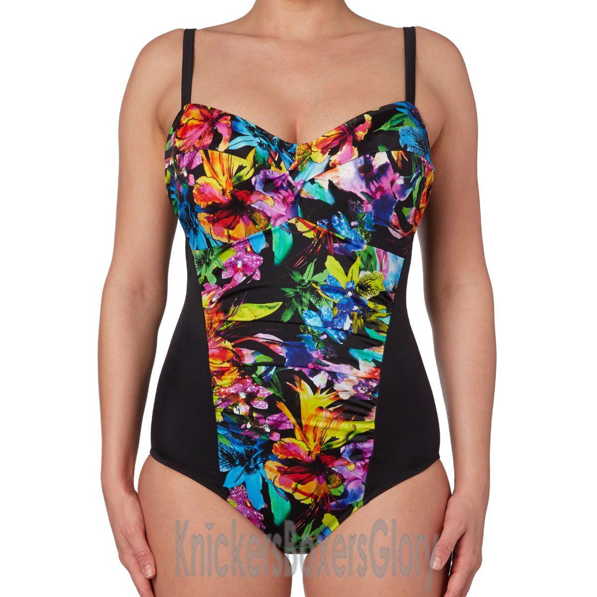 d4efe65de51 Fantasie Swimwear Santa Rosa Gathered Swimsuit Multi NEW 5454 Select ...