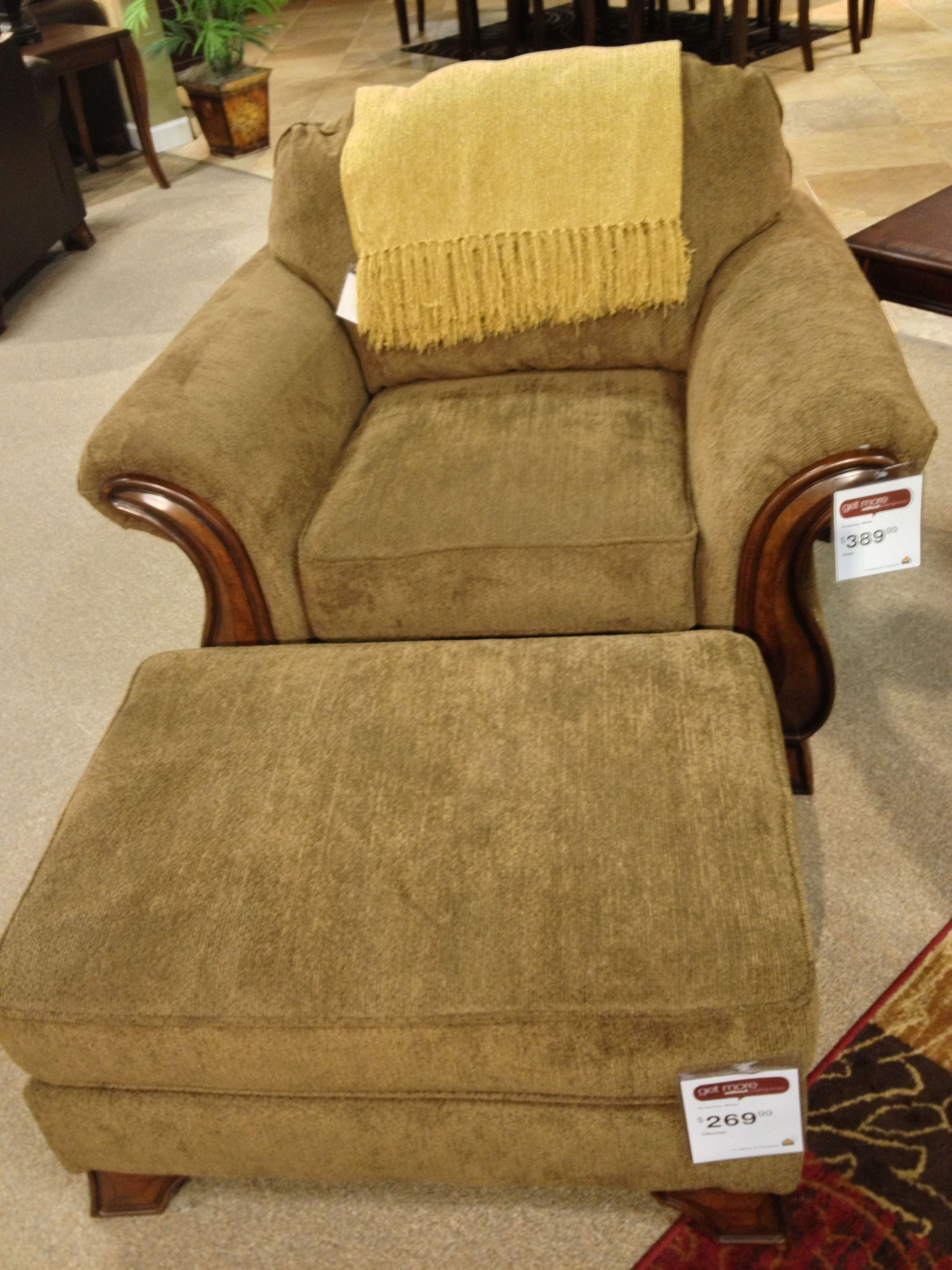 Montgomery Mocha Chair and Ottoman Ashley Furniture in