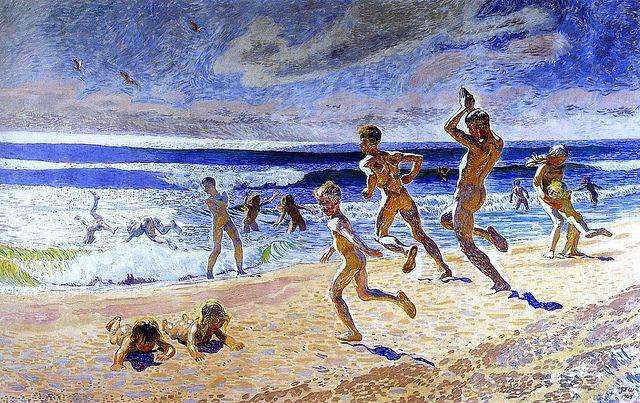 Sun And Youth Jans Ferdinand J F Willumsen 1909 By Bofransson Via Flickr Art Illustration Art Beach Art