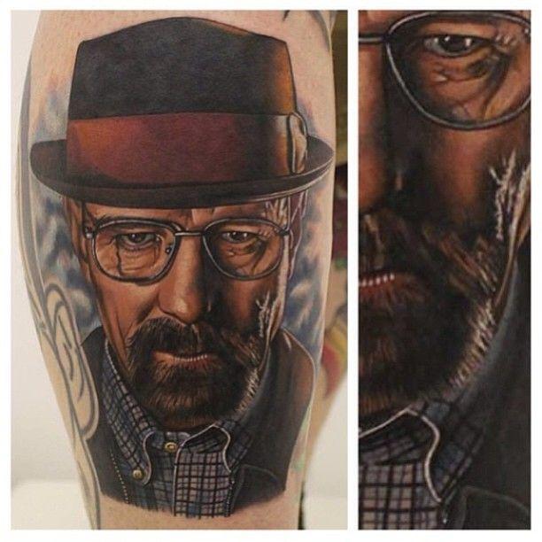Tattoo by Phatt German @phattgerman // Breaking Bad Tattoo. Walter White, Heisenberg