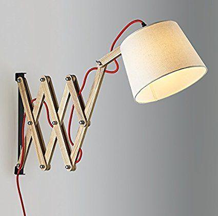 Holz Wandlampe Wohnzimmer Schlafzimmer Nachttischlampen Ganglichter Nordic  Pastoralen Einfachheit Kreative Versenkbare Wandleuchten