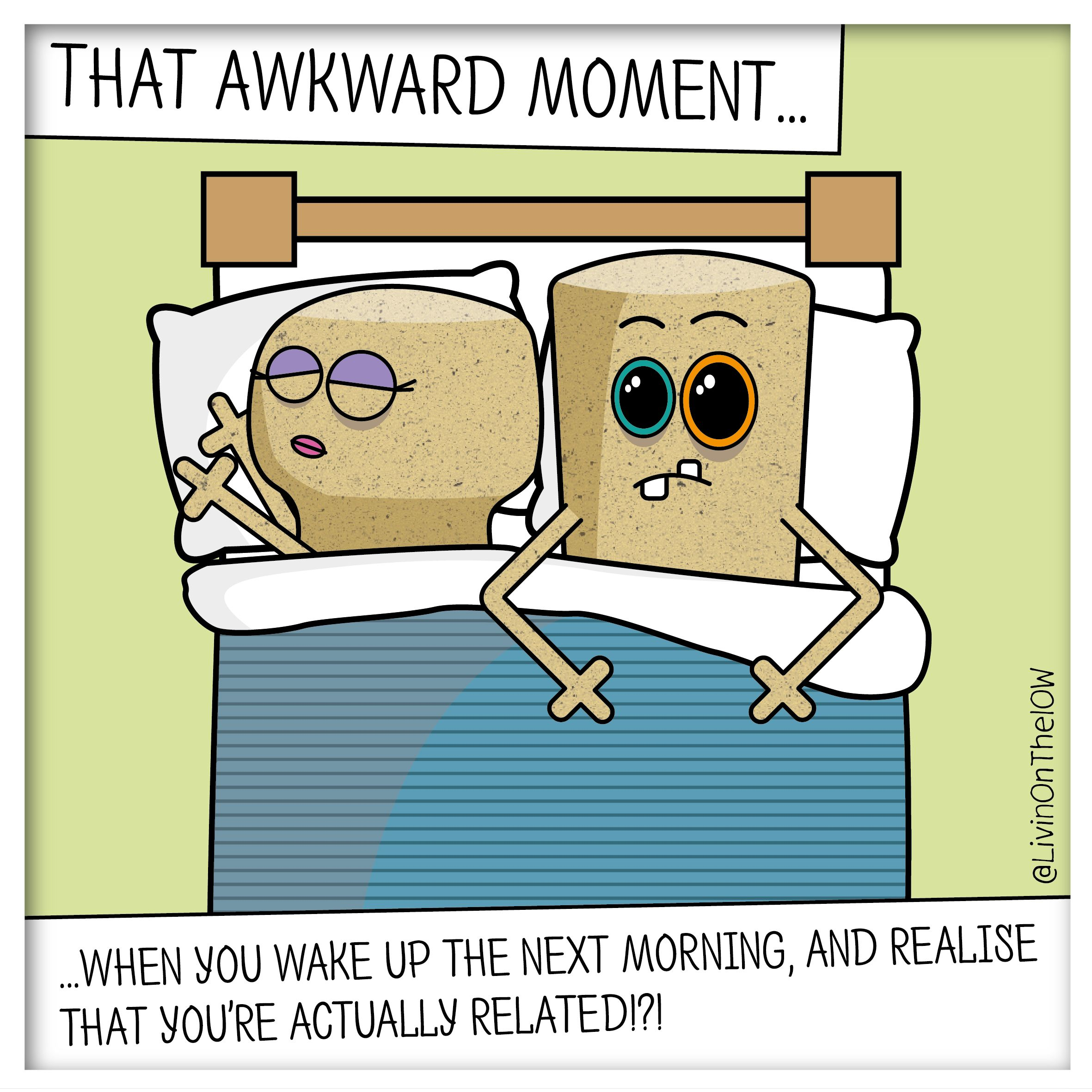 It's a small island, after all... #isleofwight #iow #banter #illustration #cartoon #2dart #graphicdesign #caulkheads #islandlife #humour #morningafter #bed