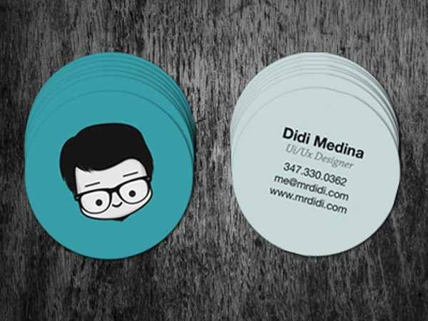 Colorful Minimal Business Card Designs Business Ideas - Round business card template