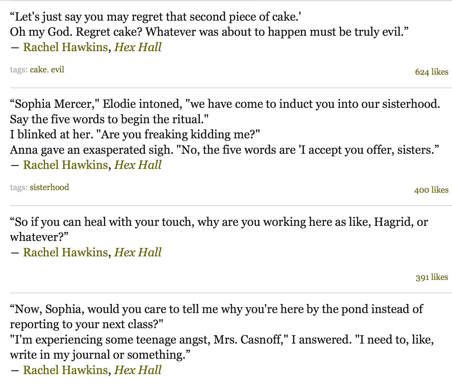 Goodreads Quotes Hex Hallrachel Hawkinssophie Mercer Quoteshttpswww