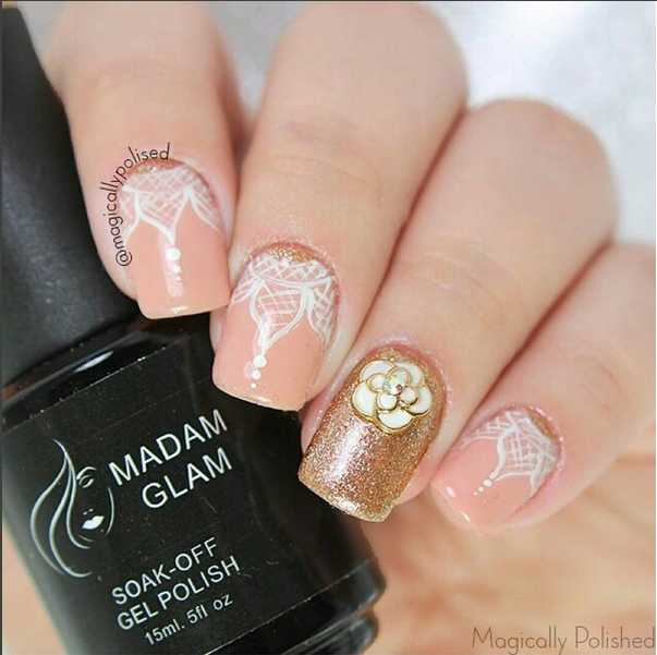 Romantic fall nail art Visit www.madamglam.com for these and many ...