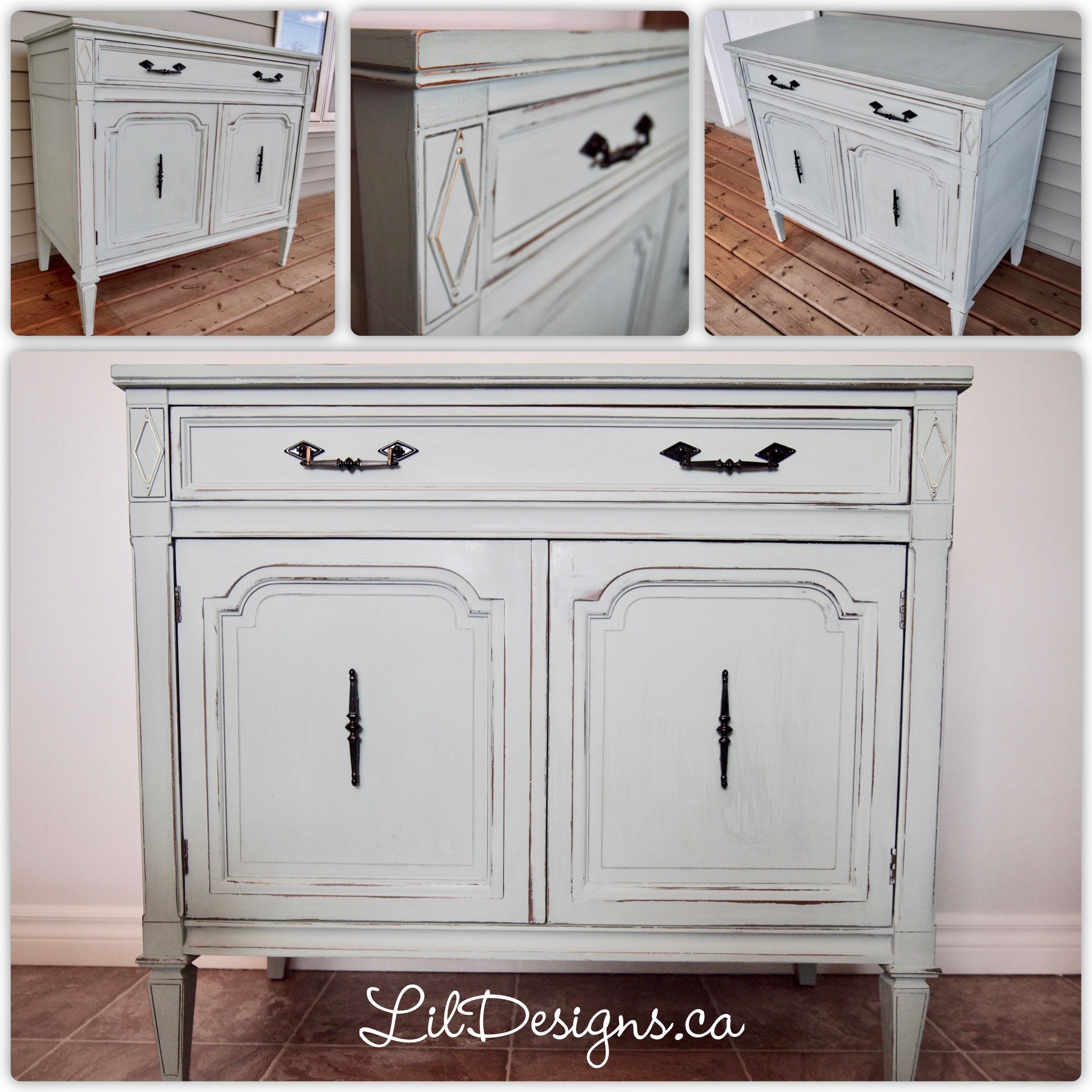 Lovely 1 Drawer 2 Door Accent Cabinet. The Distressed Details And Duck Egg  Colour Finish