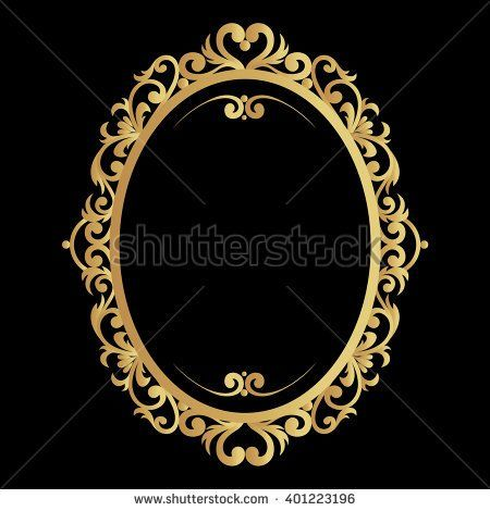 Hand Drawn Vintage Gold Circular Or Oval Frame Made In Vector Unique Ornamental Decorative Cover Oval Frame Ornament Frame Frame