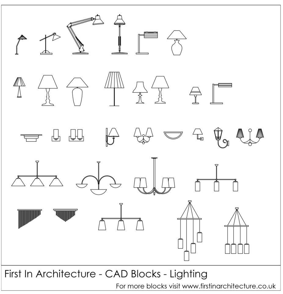 Free Cad Blocks Lighting Architectural Drawings Pinterest