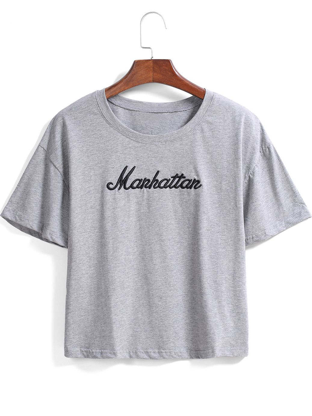 Grey Short Sleeve Manhattan Print Loose T Shirt 799 Threads And