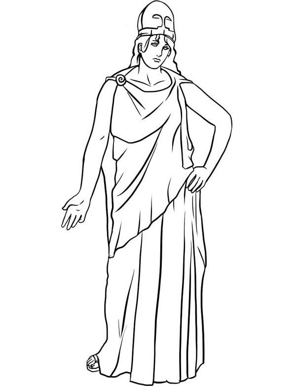 Drawing-of-Athena-ffrom-Greek-Gods-and-Goddesses-Coloring ...