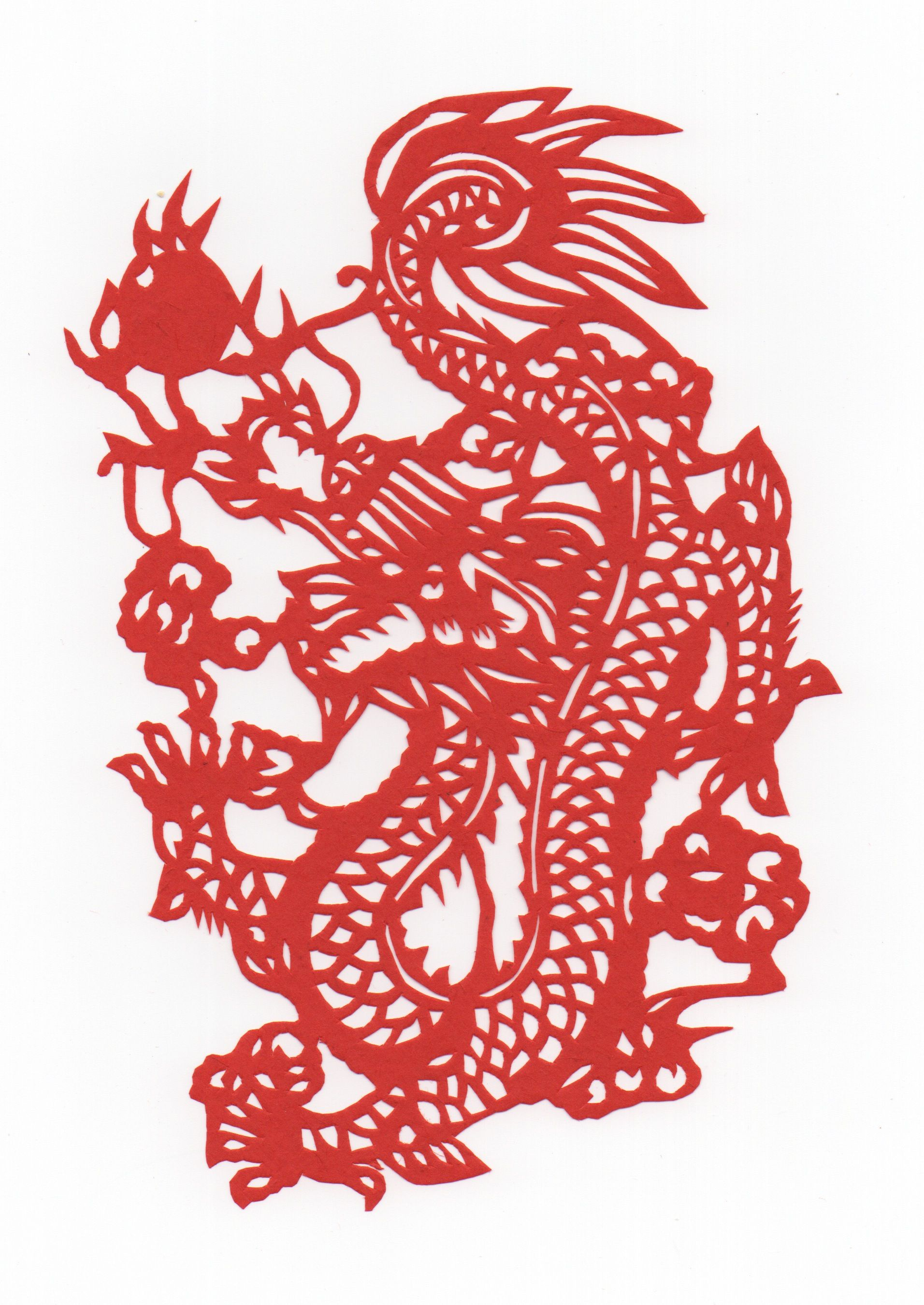 Chinese Papercut - Year of the Dragon | 龍、蛇、ウロボロス ...