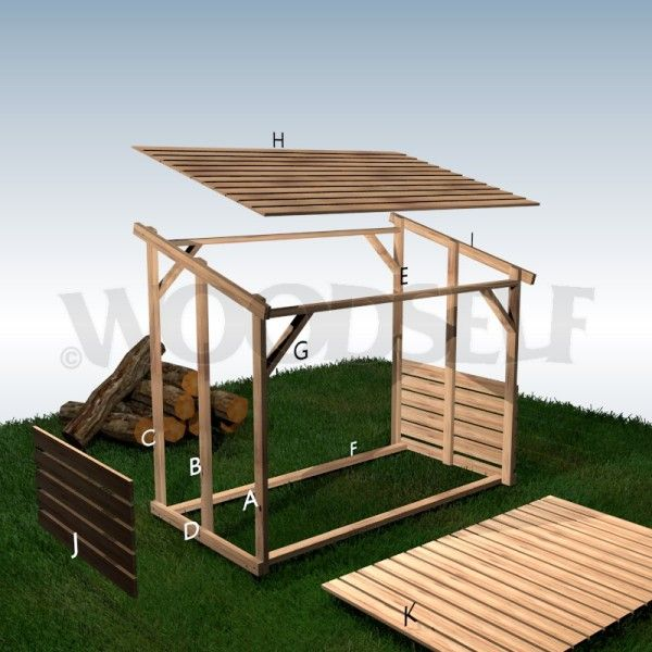 Plan Woodself small sheds or houses Pinterest House