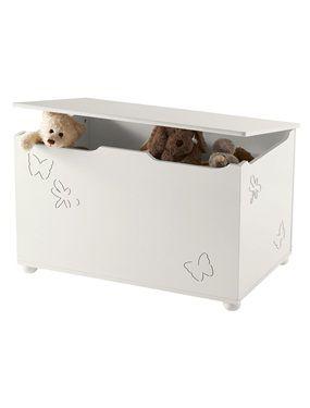 White Storage Chest Baby Bedroom Vertbaudet Rangement Fille Coffre A Jouets Coffre De Rangement