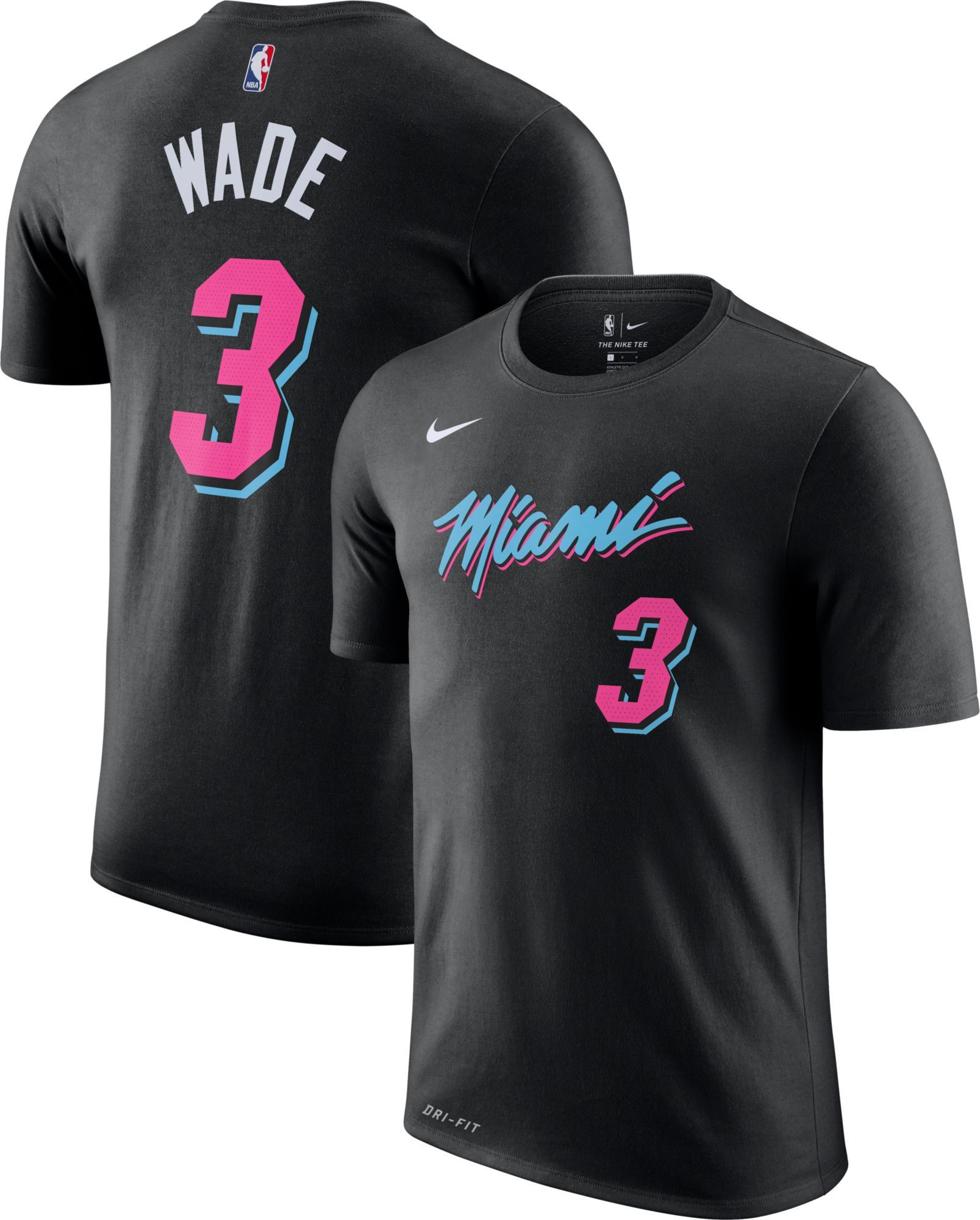Nike Men s Miami Heat Dwyane Wade Dri-FIT City Edition T-Shirt in ... 896011042