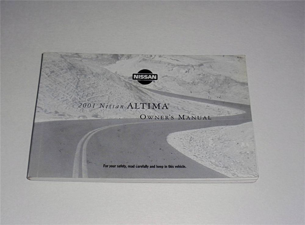 2001 Nissan Altima Owners Manual Book