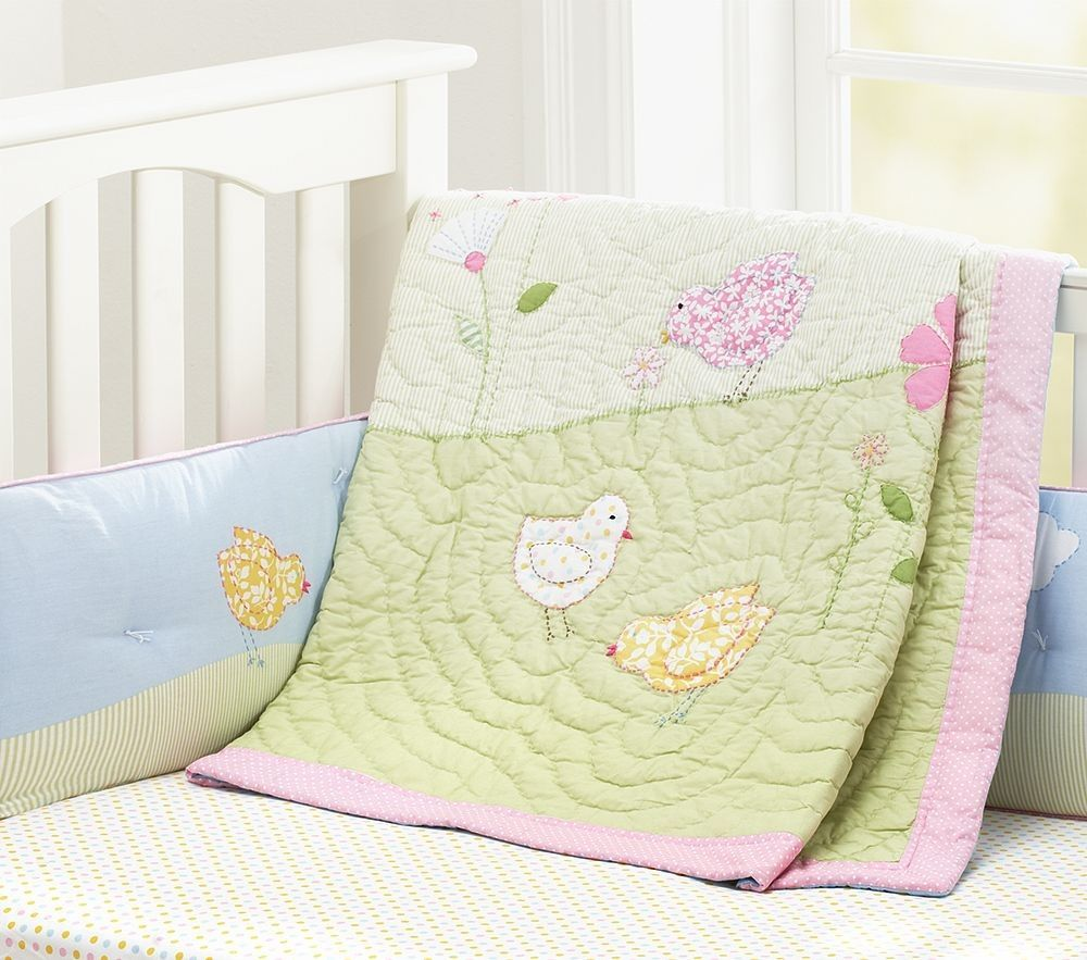 Pottery Barn Kids Molly Nursery Crib Bedding Set Nip