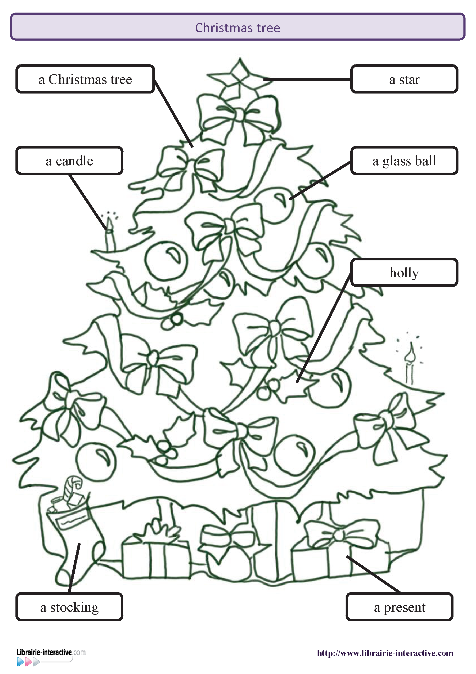 Librairie Interactive   Christmas tree | Apprendre l'anglais, Noel