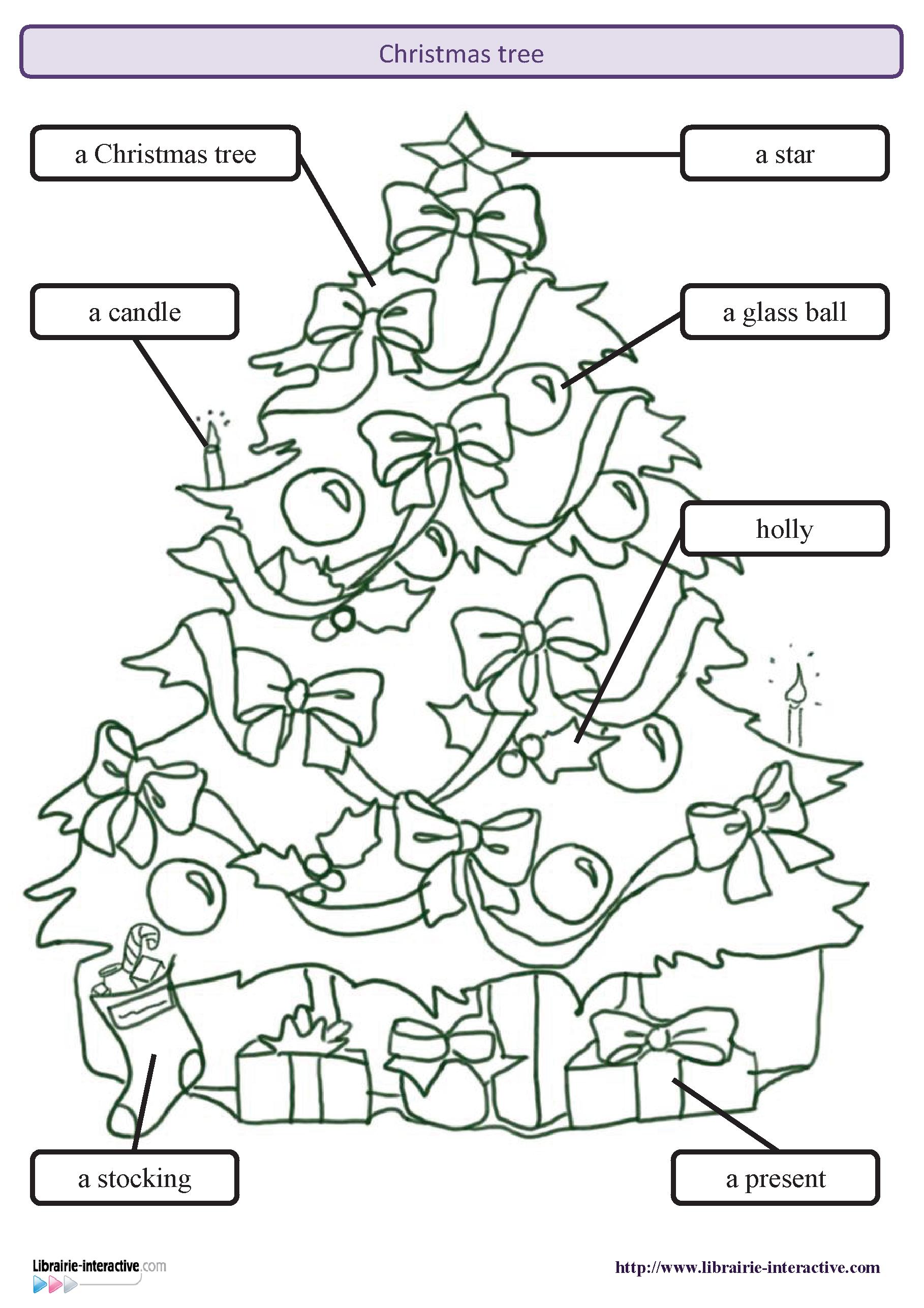 Le Vocabulaire Anglais Du Sapin De Noel