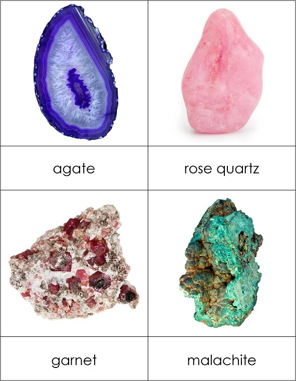 Types of Gemstones and Minerals from Montessori for Everyone! Our