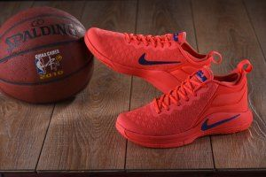 145277dfbbd5 Mens Nike Lebron Witness II EP 2 Flyknit October Red Black Basketball Shoes