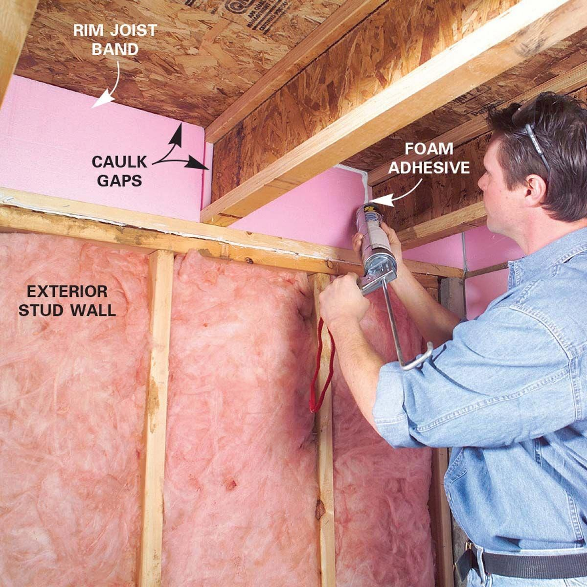 How To Finish Frame And Insulate A Basement Waterproofing Basement Framing Basement Walls Insulating Basement Walls