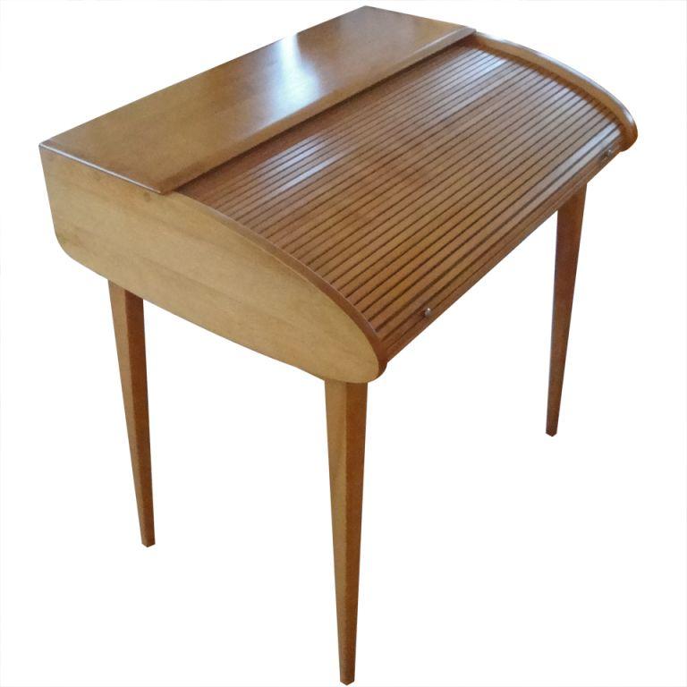 scarce heywood wakefield tambour desk mid century modern mid rh pinterest com
