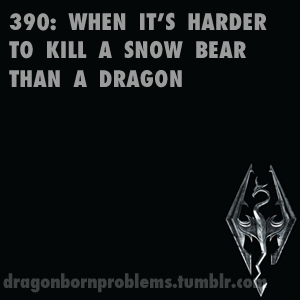 Skyrim Problems • Bears are such a pain