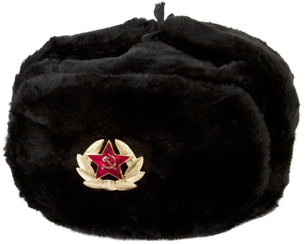 84b96b3c34be4 Authentic Russian Military Kgb Ushanka Hat W  Soviet Red Army Badge Included