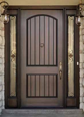Grooved Panels Plain No Knocker Add Peephole Front Door