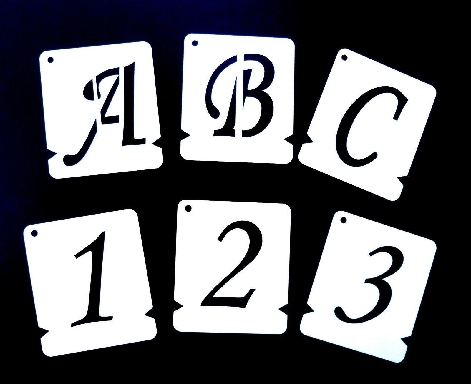 alphabet stencils individual letter stencils a z 0 9 monotype corsiva free