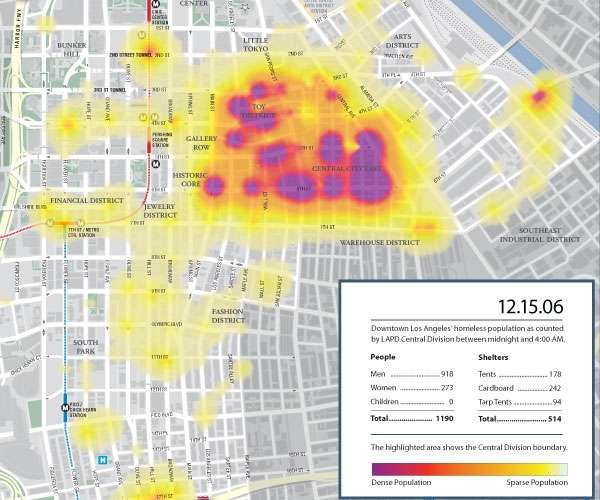 Heat Map Of The Homeless Heat Map Map Cartography Map