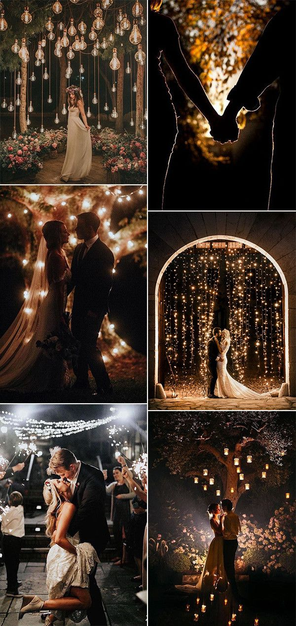 Top 20 Must-have Night Wedding Photos with Lights