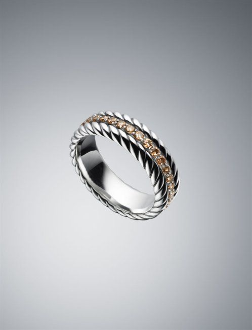David Yurman Rave Band Ring in cognac diamond Clothes I Want
