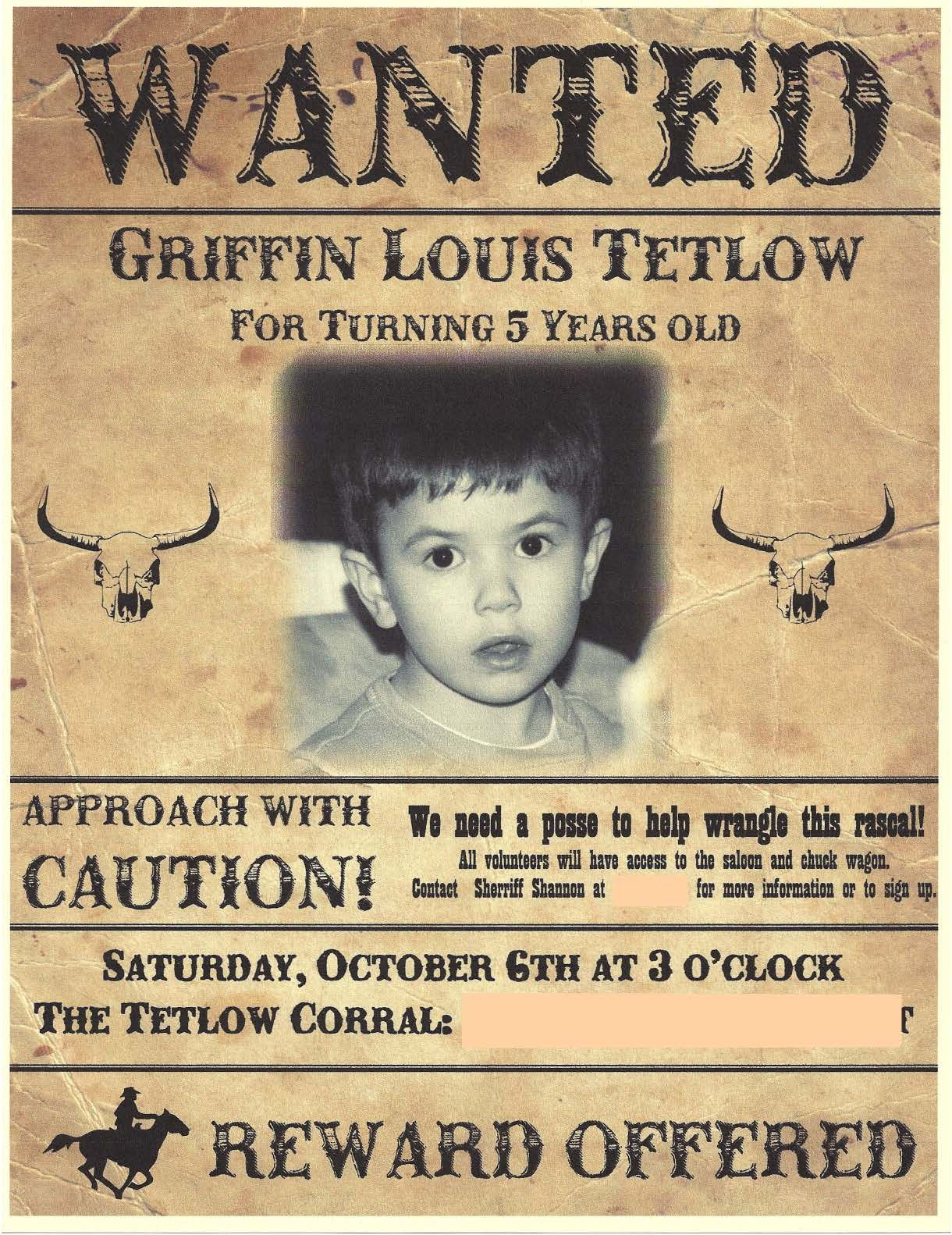 6b673ed5399b2f280a27c4c399d7c10b cowboy birthday invitation wanted poster favorite places,Wanted Poster Birthday Invitations