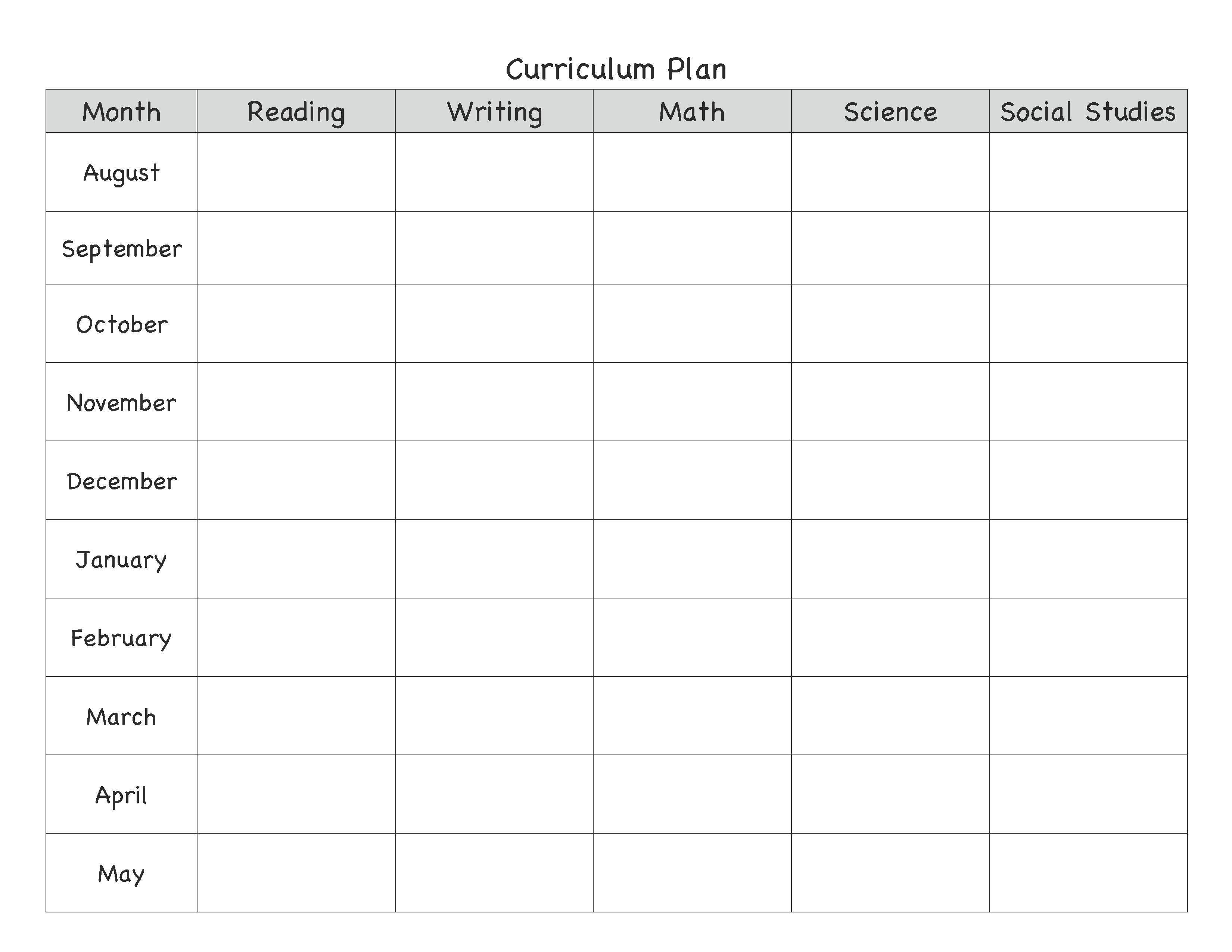 year lesson plan template lesson plan organization pinterest
