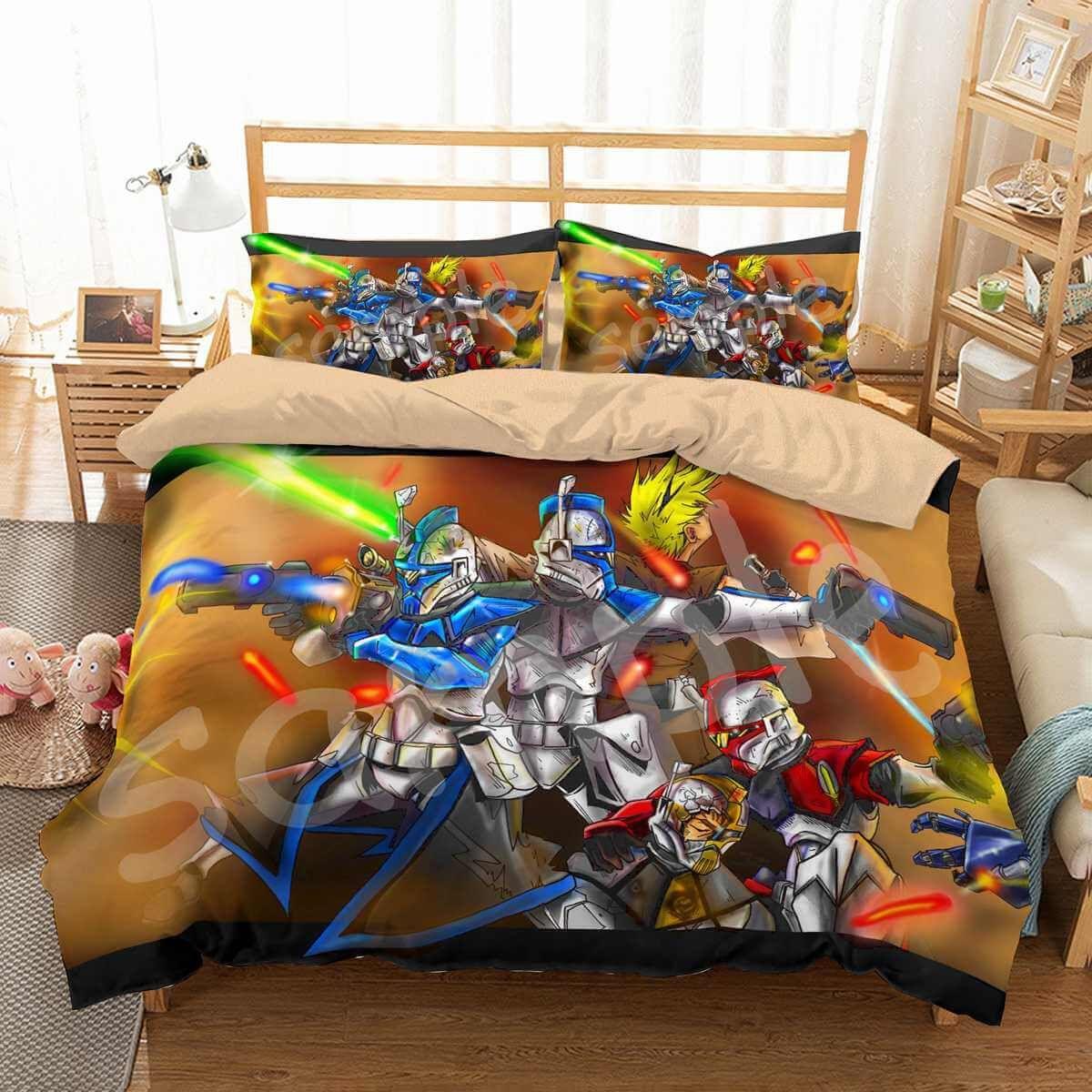3d Customize Star Wars The Clone Wars Bedding Set Duvet Cover Set
