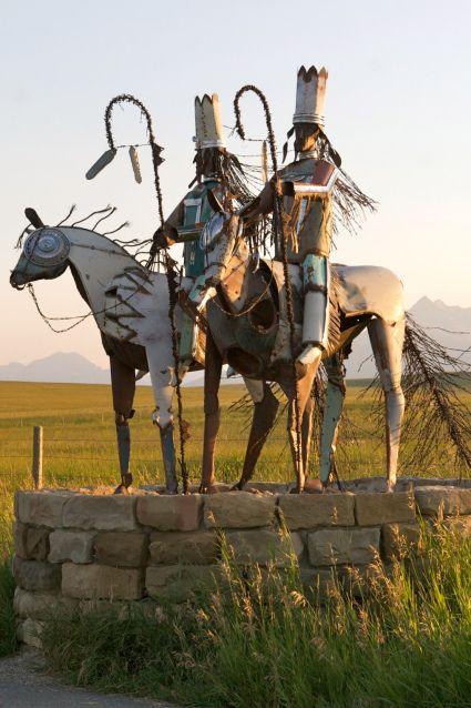 Blackfoot warriors from junk