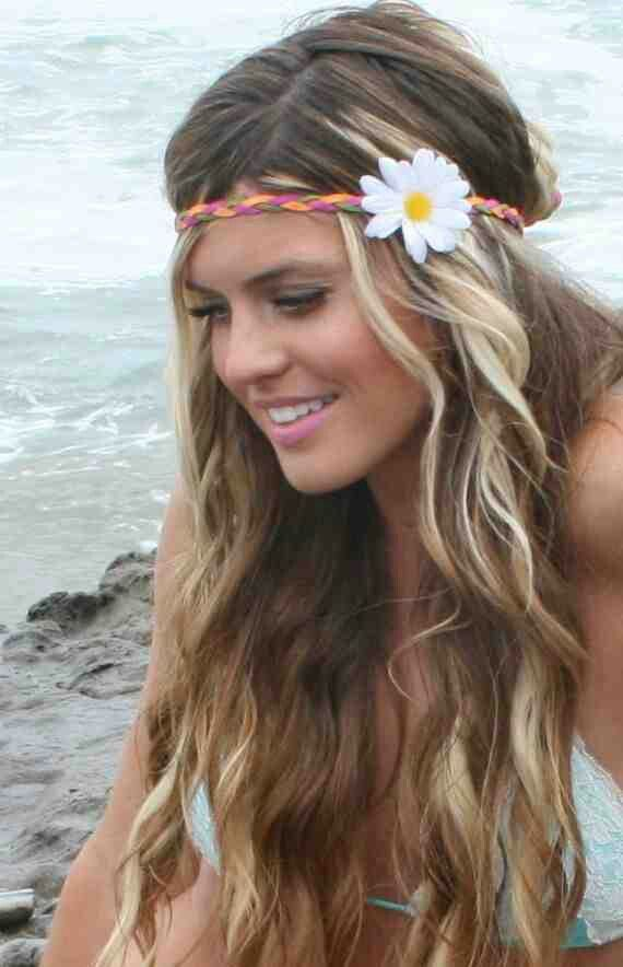 Hippy Hair With Images Headband Hairstyles Long Hair Styles Hair Styles