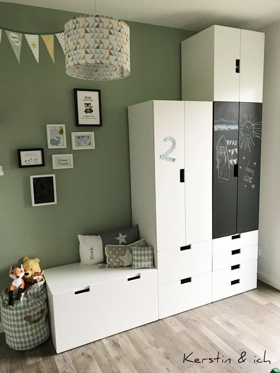 Kinderzimmer Junge Mint Schranksystem Deko Kids Room Organization, Baby  Bedroom, Kids Bedroom, Little