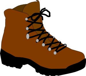hiking boot clip art vector clip art online royalty free public rh pinterest com hiking clipart png hiking clipart black and white