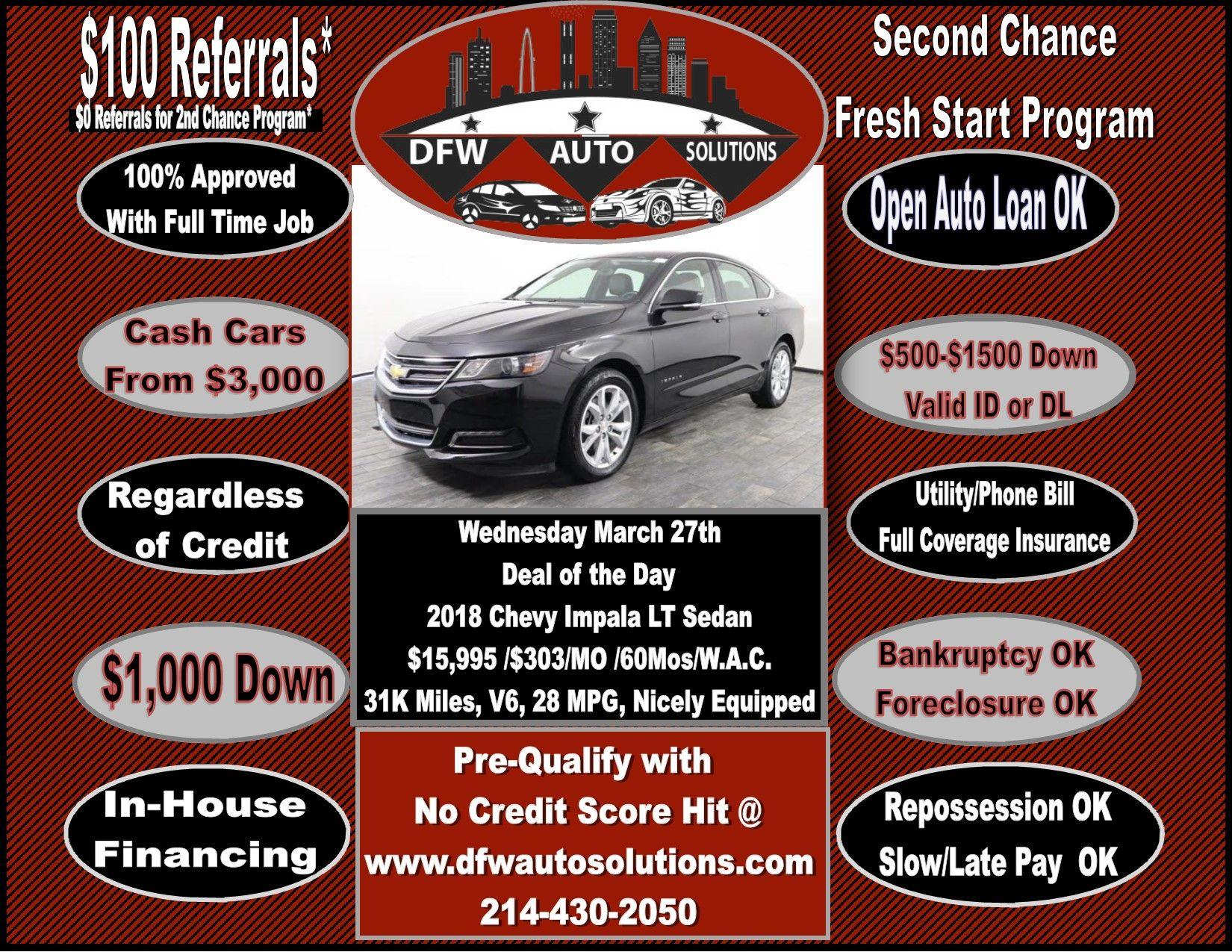 Dfw Auto Solutions Cash Cars Solutions Car Deals