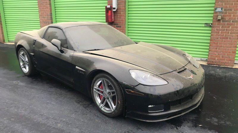 Corvette z06 found in storage unit with low miles