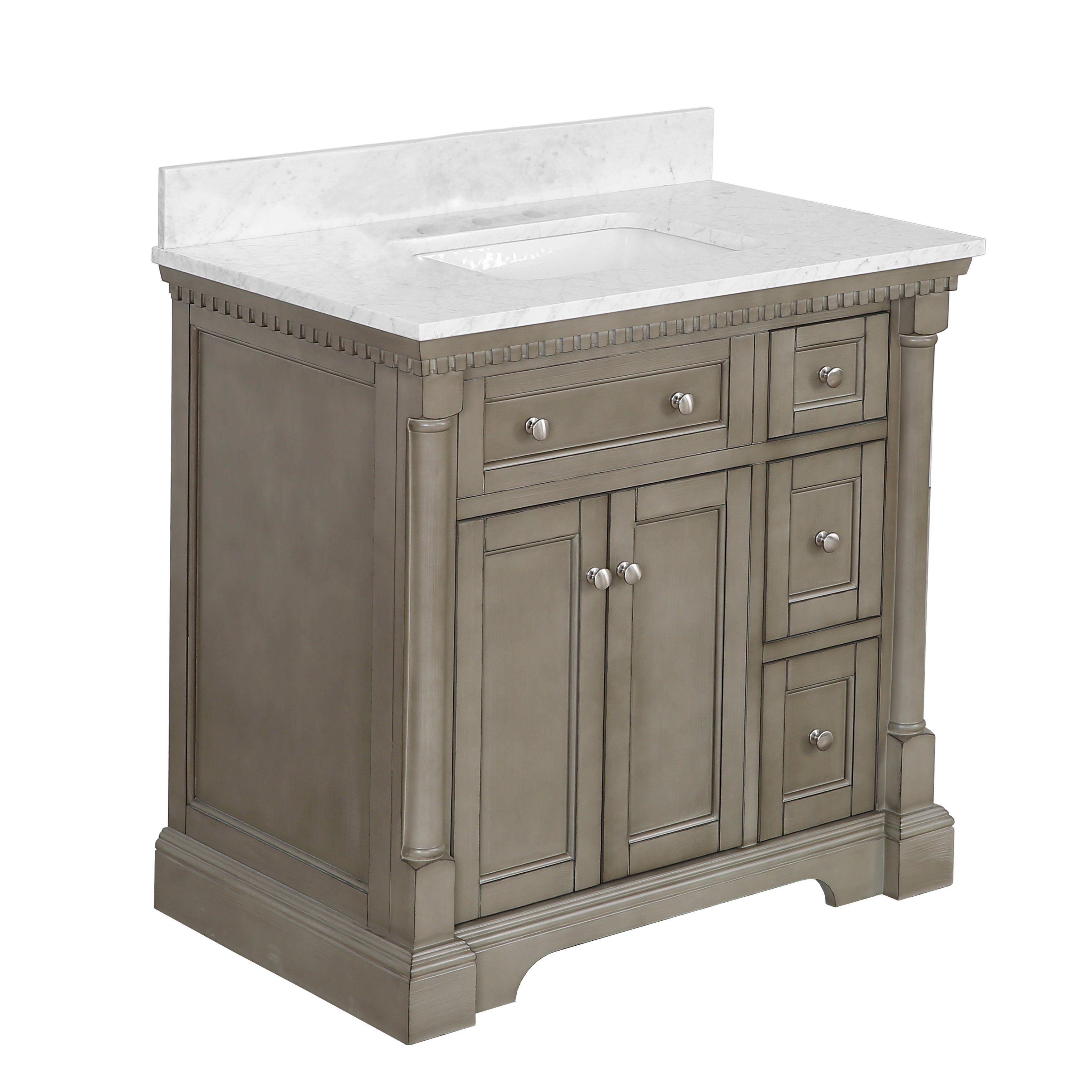 Sydney 36 Inch Vanity With Carrara Marble Top In 2021 36 Inch Vanity 36 Inch Bathroom Vanity Bathroom Vanity