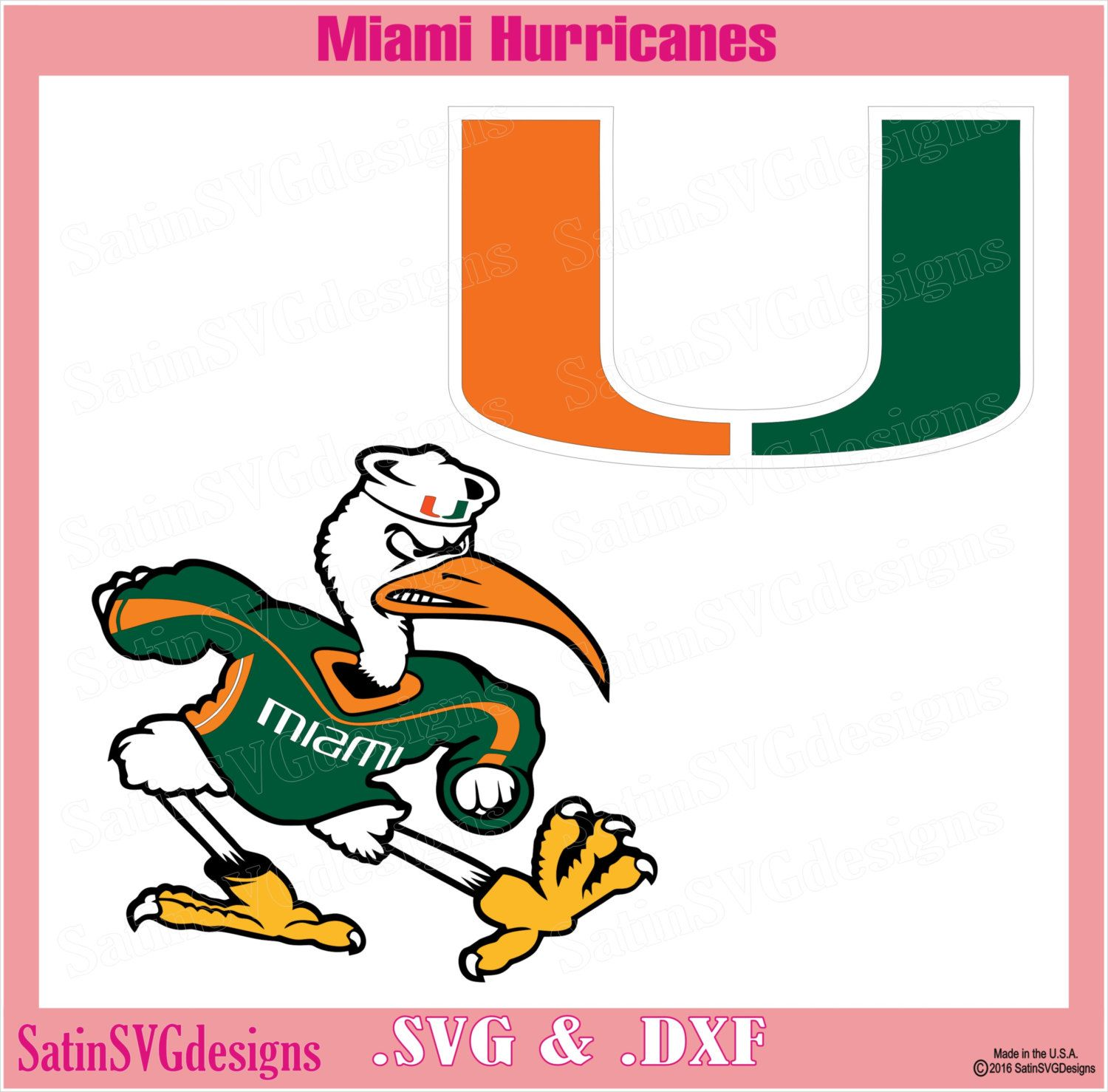 Miami Hurricanes Design Kit Files Use Your Silhouette