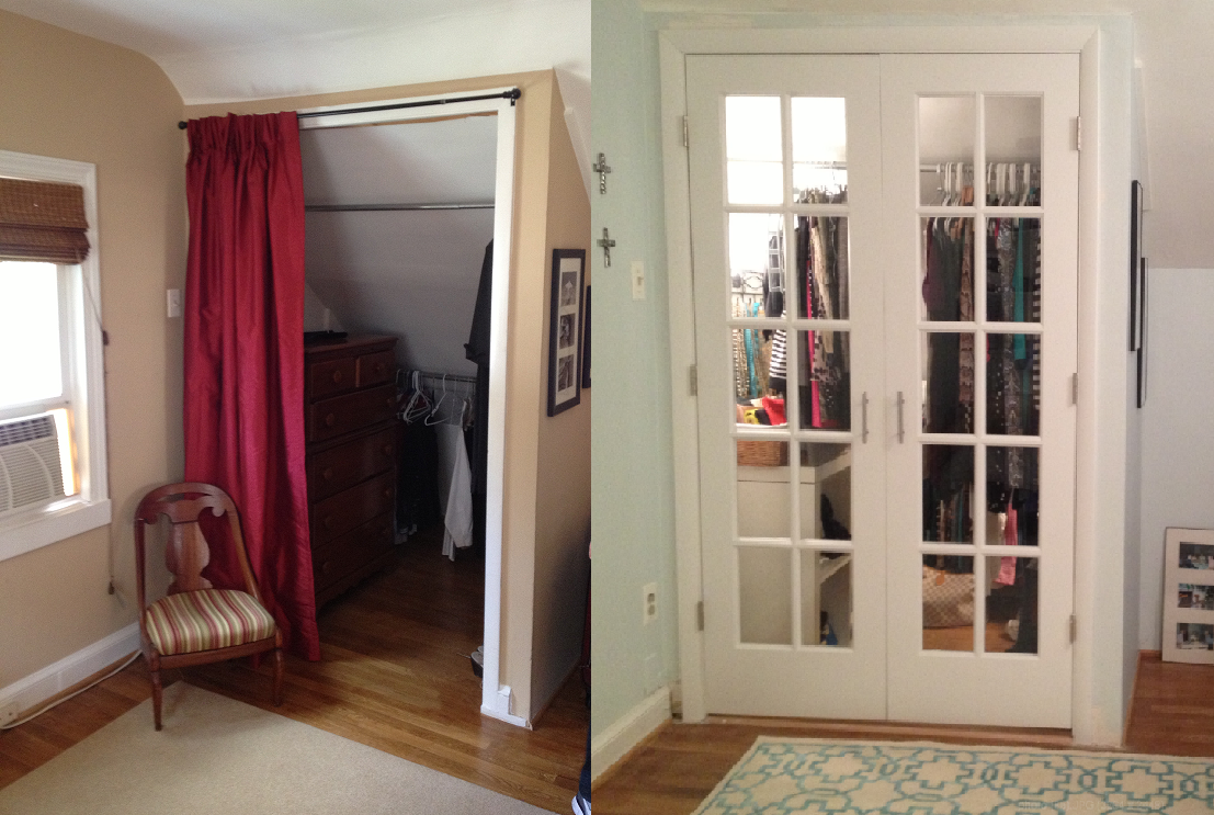 French Door Closet Project I did with my Dad and fiance